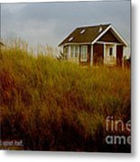 Beach House W Scripture Metal Print