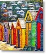 Beach Houses At Fish Hoek Metal Print