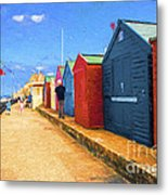 Beach Huts At Cromer Metal Print