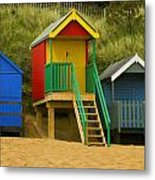 Beach Huts At Wells Next To Sea 1 Metal Print