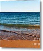 Beach In Algarve Metal Print