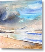Beach In Lanzarote Metal Print