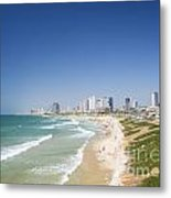 Beach In Tel Aviv Israel Metal Print