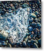 Beach Jewelry - Iceland Ice Photograph Metal Print