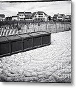 Beach Locker Metal Print by John Rizzuto