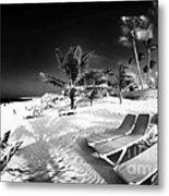 Beach Lounging Metal Print