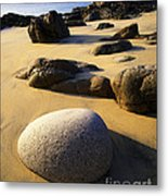 Beach Of Gold Metal Print