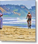 Beach Of Life Large Crop Metal Print