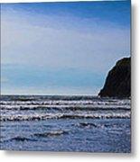 Beach On The Oregon Coast Metal Print
