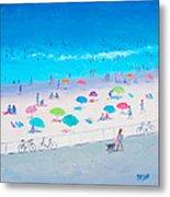 Beach Painting - Happy Days Metal Print