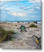 Beach Pals Metal Print by Betsy Knapp