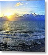 Beach Panorama Metal Print