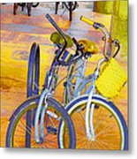 Beach Parking For Bikes Metal Print