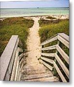 Beach Path Metal Print by Adam Romanowicz