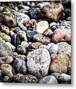 Pebbles On Beach Metal Print