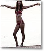 Beach Pose Metal Print