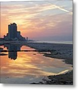 Beach Reflections Metal Print by Michael Thomas