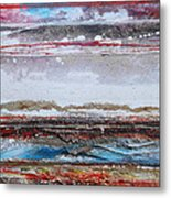 Beach Rhythms And Textures IIi Metal Print by Mike   Bell