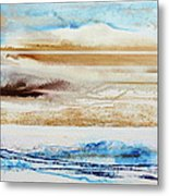 Beach Rhythms And Textures No1a Metal Print by Mike   Bell
