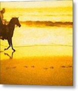 Beach Rider Metal Print