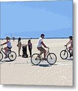 Beach Riders Metal Print