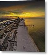 Beach Road Sunrise Metal Print