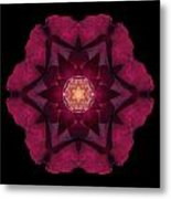 Beach Rose I Flower Mandala Metal Print by David J Bookbinder