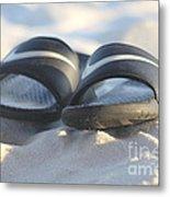 Beach Sandals 2 Metal Print