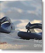 Beach Sandals 3 Metal Print