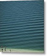 Beach Scene - Four People On Beach Metal Print