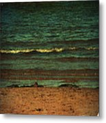 Beach Scene Ocean Waterfront Photograph Print Metal Print by Laura Carter