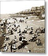 Beach Sean France  Circa 1900 Metal Print
