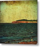 Beach Seascape Ocean Photograph Fine Art Print Metal Print by Laura Carter