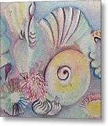 Beach Shack And Sea Shells 1.3 Metal Print