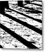 Beach Shadows Metal Print