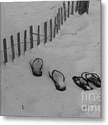 Beach Shoes Metal Print