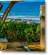 Beach Shower Metal Print