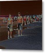 Beach Solar Series Vii Usa Metal Print