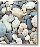 Beach Stones Metal Print