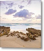Beach Sunrise At Jupiter Island Florida Metal Print