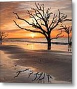 Awakening - Beach Sunrise Metal Print