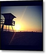 Beach Sunset Metal Print by Troy Lewis