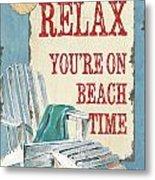 Beach Time 1 Metal Print