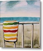 Beach Towel Metal Print