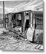 Beach Trailer Bw Metal Print