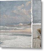 Beach Triptych 1 Metal Print