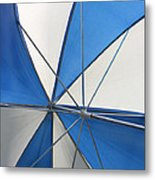 Beach Umbrella Metal Print