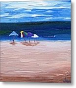 Beach Umbrellas Metal Print