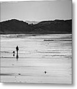 Beach Walk Metal Print