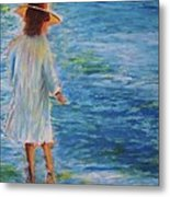 Beach Walker Metal Print